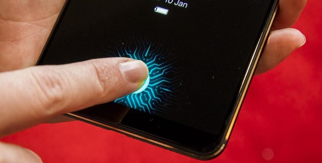 Fingerprint Sensor in Samsung Galaxy S10 Display