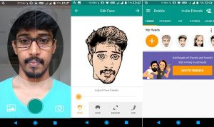 WhatsApp Convert selfies into stickers Using Bobble App